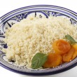 Plcouscous garnished side view — Stock Photo #37181443