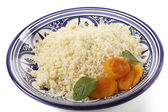 Plan couscous garnished side view — Stock Photo