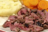 London broil meal closeup — Stock Photo
