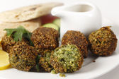 Falafel chickpea balls closeup — Stock Photo
