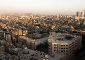 Cairo seen from above at sunset — Stock Photo