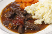 British beef stew closeup — Stock Photo