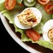 Deviled egg salad closeup — Stock Photo