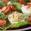 Deviled egg salad macro — Stock Photo
