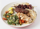 Mideast style barbecue meal — Stock Photo