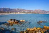 Rocky outcrops at Elafonisos beach — Stock Photo
