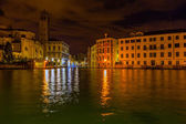 Grand Canal in Venice at night — Stock Photo