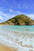 Palaeokastritsa beach on corfu — Stock Photo