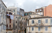 Crumbling buildings in Corfu — Stock Photo