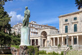 Adam and palace museum corfu — Stock Photo