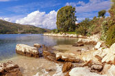 Scenic Kassiopi on Corfu horizontal — Stock Photo