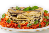 Vegetable lasagne side view — Stock Photo