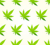 Marijuana Seamless Pattern — Stock Vector