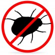 No bugs — Stock Vector