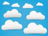 蓝天 白云 — 图库矢量图片