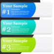 1-2-3 Numbered Banner Templates — Stock Vector