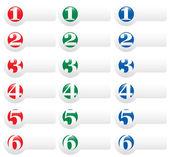 1,2,3,4,5,6 Presentation Template — Stock Vector
