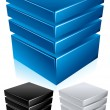 Royalty-Free Stock Vector Image: Blue Data Center - Server - Infrastructure Conceptual Vector Illustration