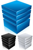 Blue Data Center - Server - Infrastructure Conceptual Vector Illustration — Stock Vector