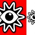 Eye In Shape Symbol — Stock Vector #25925551