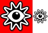 Eye In Shape Symbol — Stock Vector