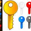 Stock Vector: Key Icons