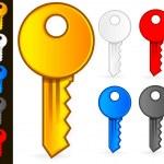 Key Icons — Stock Vector