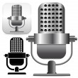 Microphone on stand vector — Stock Vector