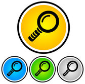 Magnifying Glass Icons — Stock Vector