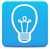 Blue modern Light Bulb Icon — Stock Vector