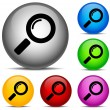 Stock Vector: Magnifier Icons
