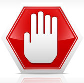 Stop Sign Royalty Free Vector — Stock Vector