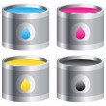 Four colour buckets — Stock Vector #32677255