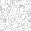Gears Background, Pattern — Stock Vector
