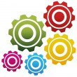 Stock Vector: Gears Background Eps 10 vector.