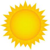Sun clipart — Stock Vector