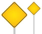 Empty road sign — Stock Vector