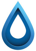 Water Drop 3d Vector Icon — Stock Vector