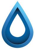 Water Drop 3d Vector Icon — Stock Vector