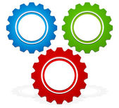 Colorful Gear composition vector graphics. — Stock Vector