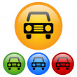 Постер, плакат: Car icon with automobile pictogram in yellow green red colors Icon for Transportation driving car service repair driving school