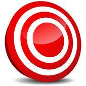 Target Icon. Aim, precision, luck, bulls eye, target practising, targeting (market, marketing), goal, goal setting design element, vector icon. — Stock Vector