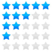 Blue star rating vector graphic — Stock Vector