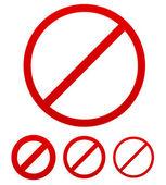 Prohibition, no permission sign — Stock Vector