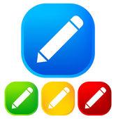 Pencil icons — Stock Vector