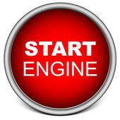 Start Engine button — Stock Vector