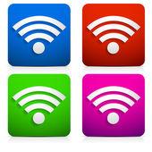 Ikony wifi — Stock vektor
