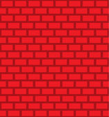 Repeatable brick, brick wall texture — Stock Vector