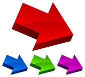 Arrow icon, arrow vector element — Stock Vector