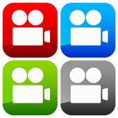 Camera-icoontje — Stockvector